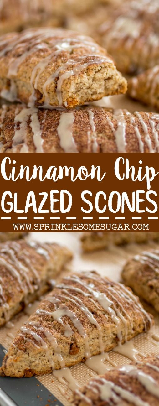 My favorite scones are loaded with cinnamon and topped with a sweet glaze that makes them taste just like a cinnamon roll!