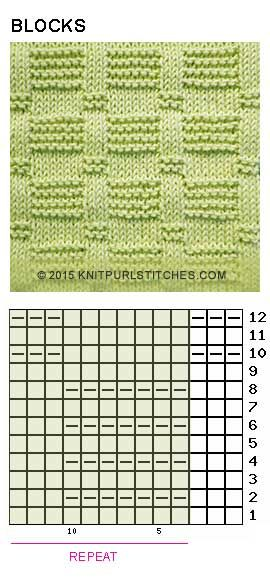 Blocks (Pattern 2). Just Knit and Purl
