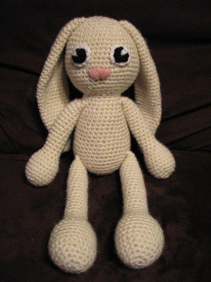 Amigurumi Floppy Ear Bunny : Floppy Eared Easter Bunny Crochet Stuffed Animal ...