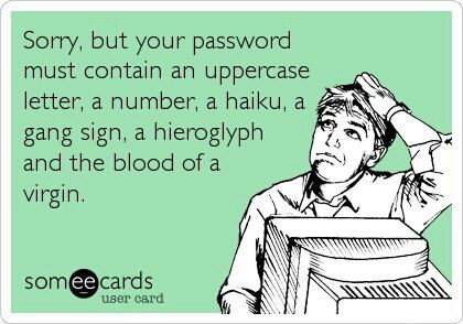 Sorry but your password must contain