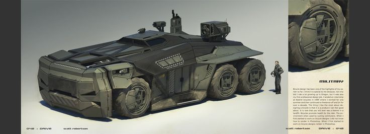 Heavily armored military vehicle with weapons.