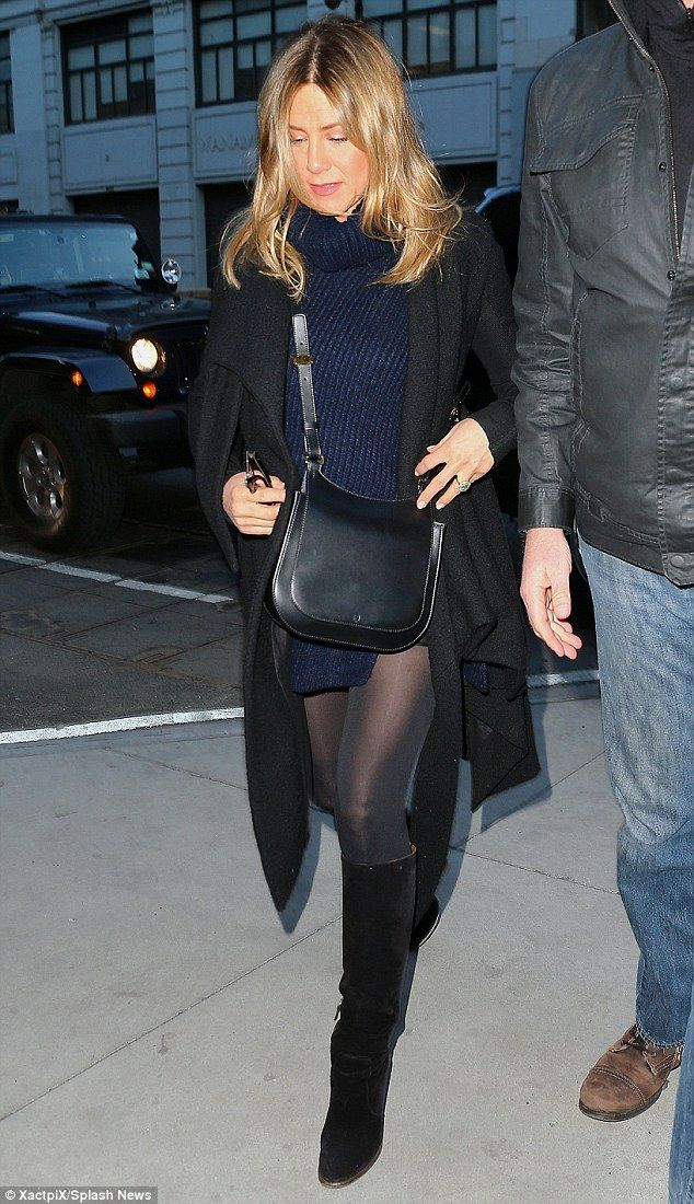 She's got legs! Jennifer Aniston paraded her pins on Saturday in New York City clad in a f...