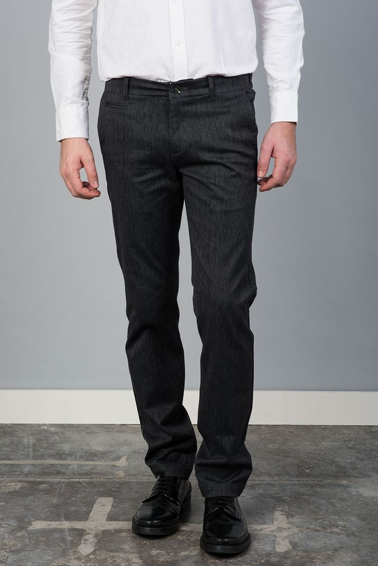 Tienda online   Moda mujer y hombre Pantalón chino jaspeado en color gris marengo de Bendorff - Sixvalves Tienda online   Moda mujer y hombre