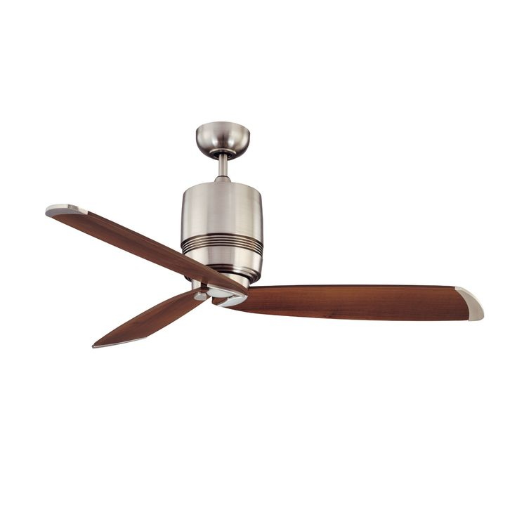 Epic Living room Kendal Lighting Tris Blade Ceiling Fan with Wall Remote