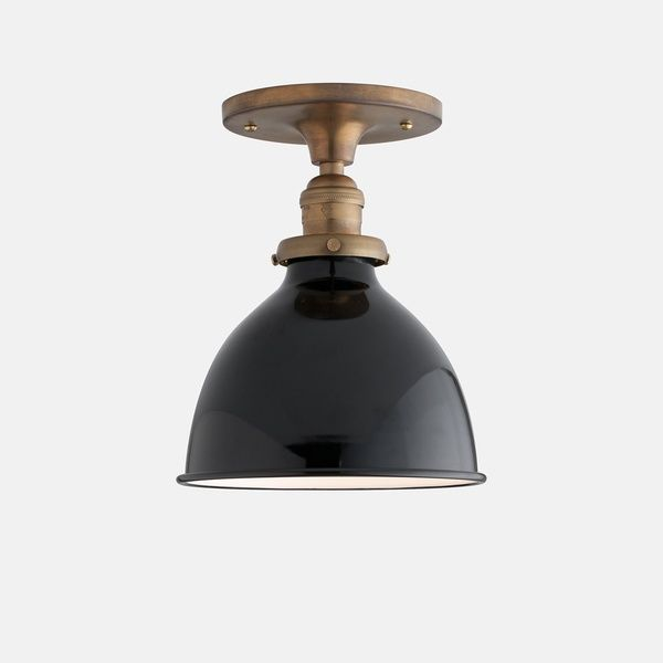for once a stylish ceiling light, school house electric light