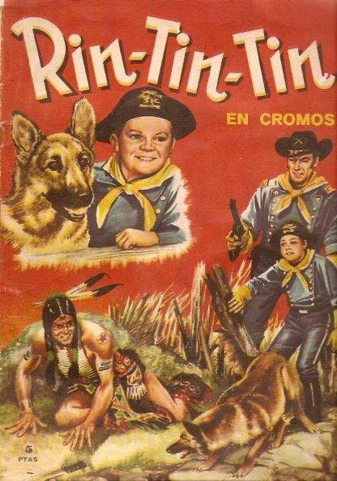 Rin-Tin-Tin. Colección de cromos de la famosa serie de TV de 1954-1954 del famoso perro Rin Tin Tin. Publicado por Fher en 1962