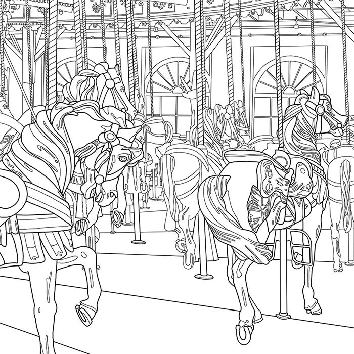 22 Best Carousel A Coloring Jones Coloring Book For