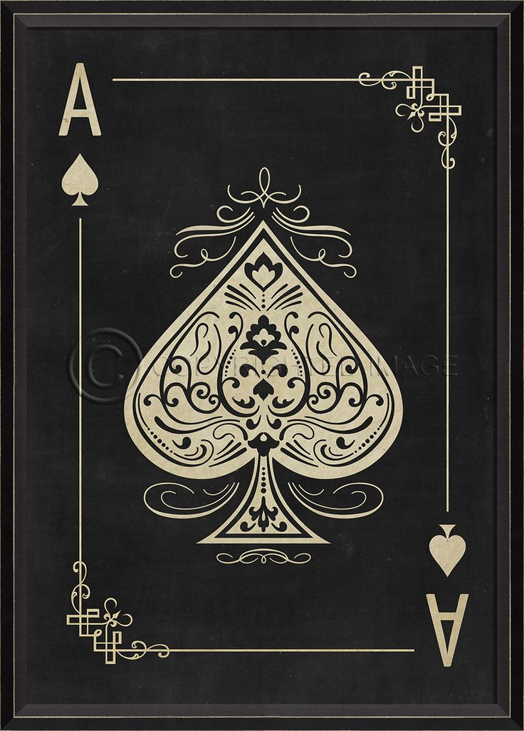 Ace of Spades White on Black - Playing Cards Spicher and Company - Distinguished Imports
