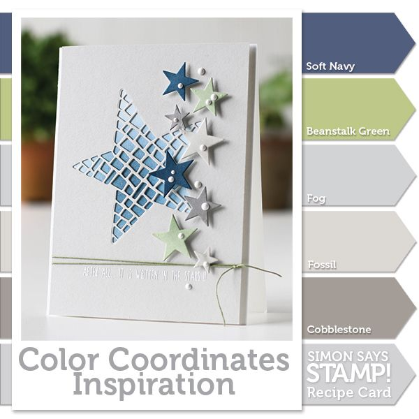 The color combination of navy blue and grey is awesome.  I'm going to have to try it soon, either on a card or somewhere in my home.