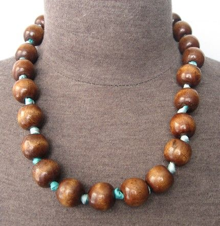 wooden bead necklaces | Wooden Bead Necklace | kdanak - Jewelry on ArtFire