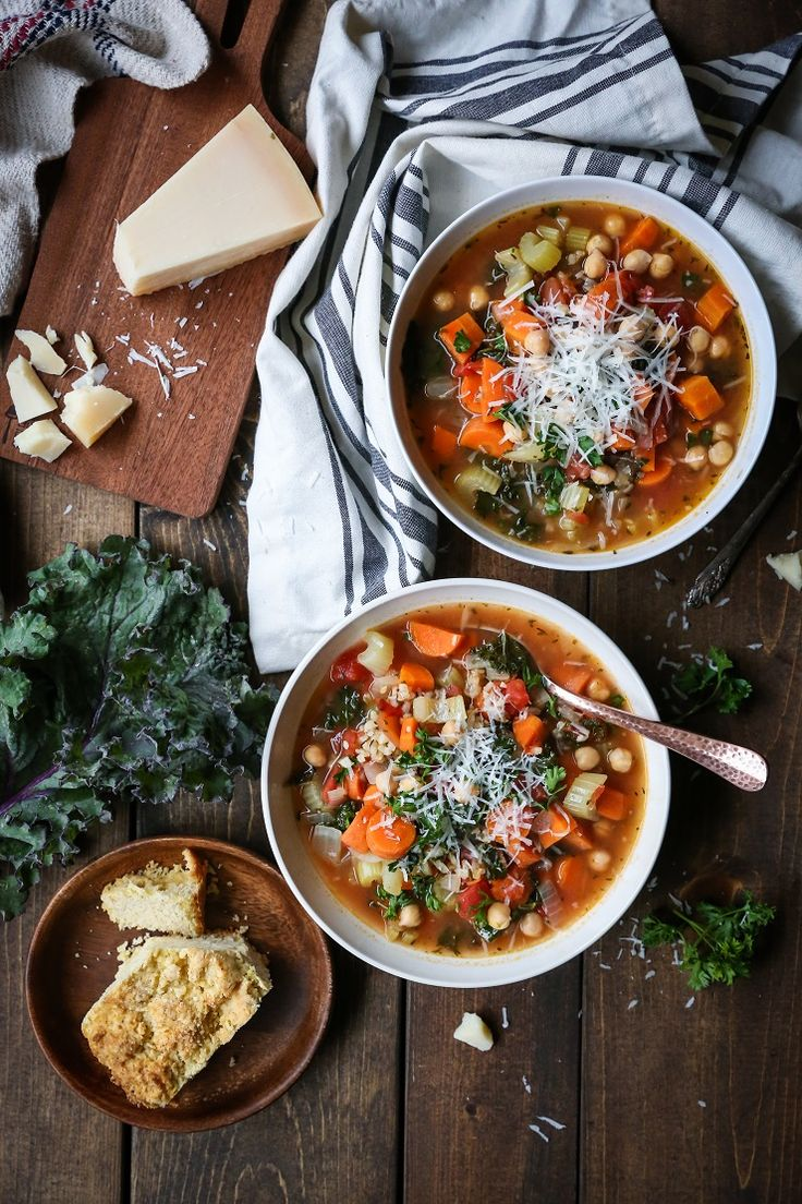 Clean, easy, classic minestrone soup with rice and kale makes for a healthful go-to during the chilly winter months. Week 2 of 2017! How is everyone doing? Winter Weather Update: It's La Niña…