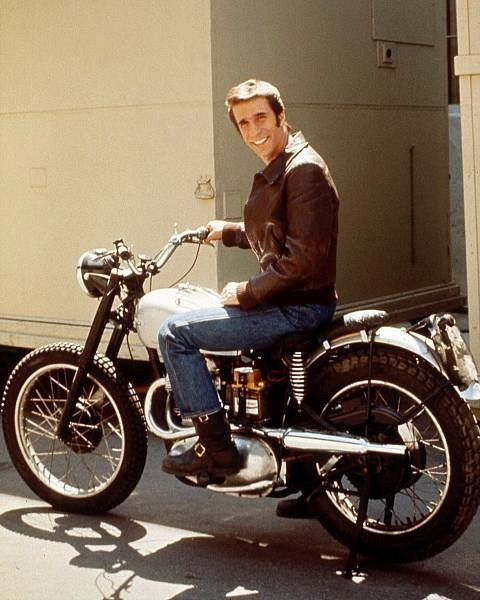 Fonzie's Happy Days Televison Series Triumph Motorcycle in Entertainment Memorabilia, Television Memorabilia, Other Television Memorabilia | eBay