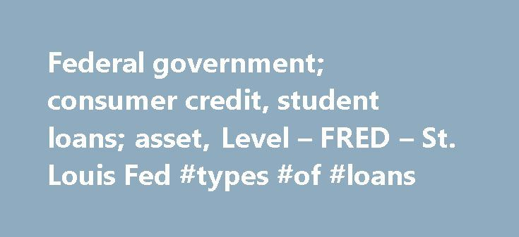 Federal government; consumer credit, student loans; asset, Level – FRED – St. Louis Fed #types #of #loans http://loans.remmont.com/federal-government-consumer-credit-student-loans-asset-level-fred-st-louis-fed-types-of-loans/  #government student loans # Federal government; consumer credit, student loans; asset, Level The source ID is FL313066220.Q This data appear in Table S.7.q of the 'Integrated Macroeconomic Accounts for the United States.' Y-Axis Position: Left Right Bottom (a) Federal…