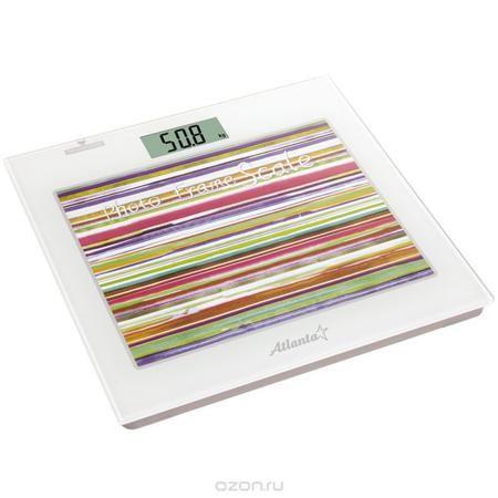 Atlanta ATH-826 весы напольные  — 913.5 руб.  —  Напольные электронные весы Atlanta ATH-826 - неотъемлемый атрибут здорового образа жизни. Они необходимы тем, кто следит за своим здоровьем, весом, ведет активный образ жизни, занимается спортом и фитнесом. Очень удобны для будущих мам, постоянно контролирующих прибавку в весе, также рекомендуются родителям, внимательно следящим за весом своих детей. Фоторамка 25 х 20 см Часы Термометр Полностью электронная технология Автоматическое включение