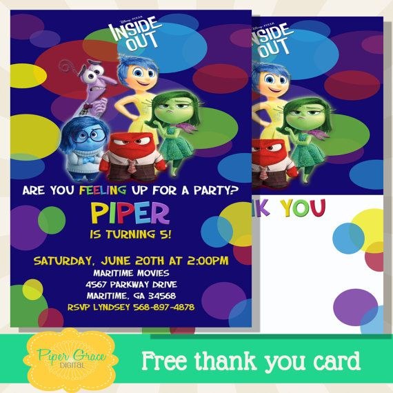 Best Birthday Invitations Images On Pinterest Birthday Ideas - Birthday invitations inside out