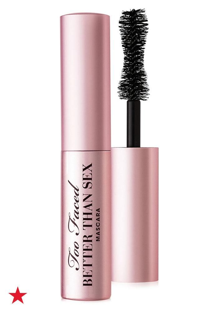 You wouldn't think that volume, length and curl could come in such a small package, but Too Faced Better Than Sex Mini Mascara really does it all in just one tiny tube. Bring it along to give lashes a mid-date pick-me-up. Click to get this travel sized must-have at Macy's.