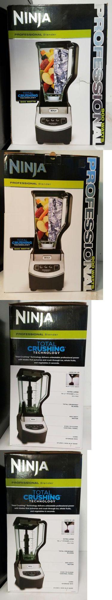 Blenders Countertop 133704: Ninja Professional Blender Nj600wm Total Crushing Technology 900W Black New -> BUY IT NOW ONLY: $50 on eBay!