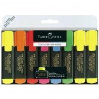 Zakreślacze Faber-Castell zestaw 8 kolorów