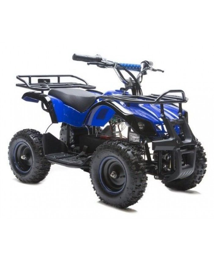 Rosso Motors Kids ATV Kids Quad 4 Wheeler Ride On Utility with 36V/800W Battery Electric Power Lights in Blue Motorcycle for Kids