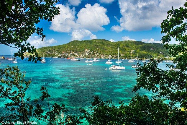 Mail on Sunday's Tristan Davies stayed at Bequia Beach Hotel on Bequia island in the Gren...