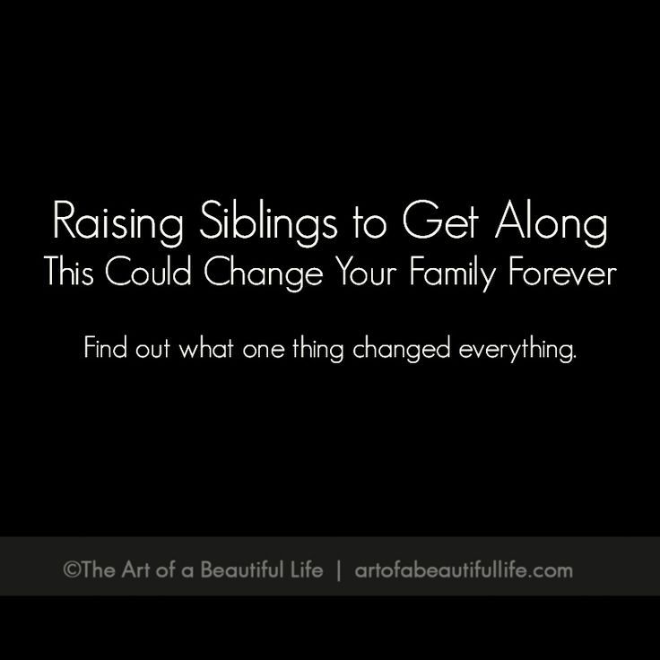 an age old sibling rivalry Sibling rivalry presents many parenting challenges how do you  what do you  do when an older sibling is acting like a parent to a younger one.