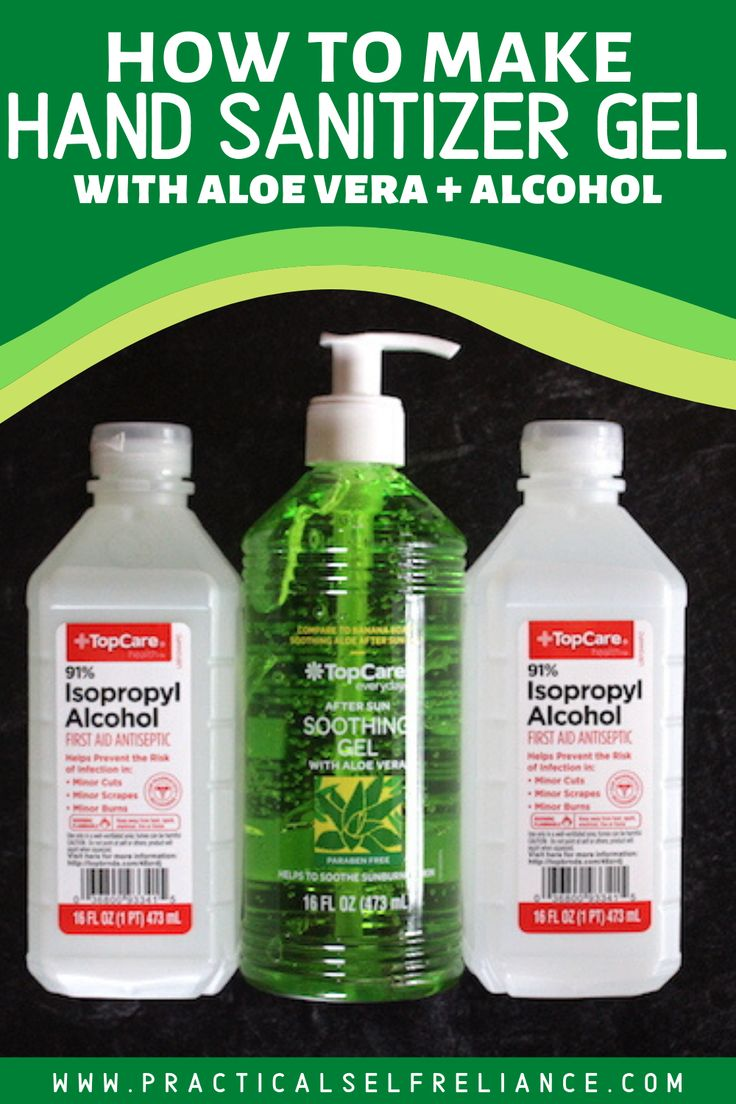 Homemade hand sanitizer gel and spray hand sanitizer
