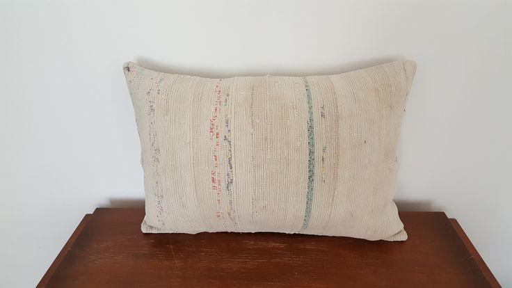 Beige Pillow Case 16x24 Cotton Cushion