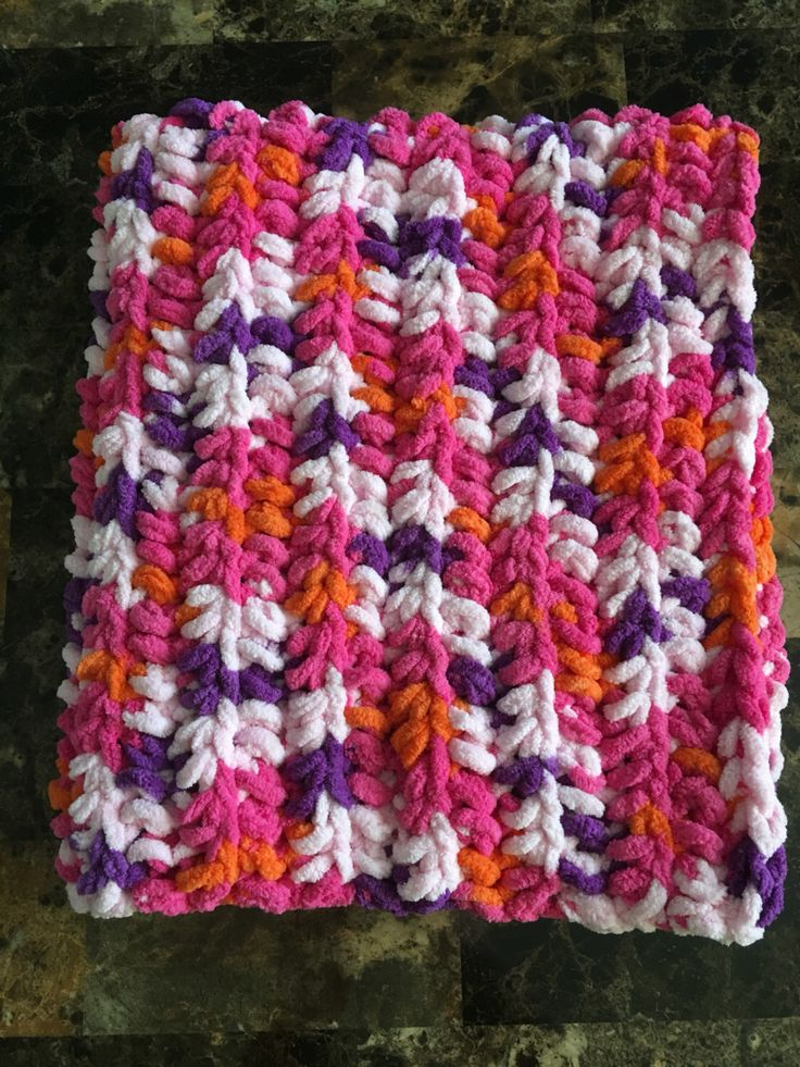 Baby blanket, newborn blanket, blanket, baby, newborn, crochet blanket, crochet baby blanket, pink, purple, orange, car seat, carrier, crib by ComfyCozyCo on Etsy https://www.etsy.com/listing/460927932/baby-blanket-newborn-blanket-blanket