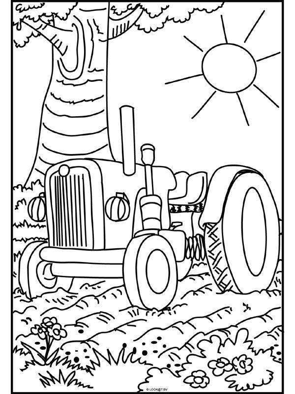 Kleurplaat Printen Vrachtwagen Kleurplaat Tractor Kleurplaten De Boerderij En Trekker