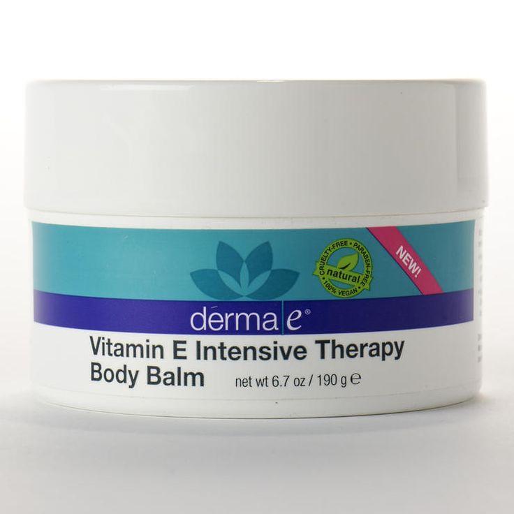 Intensive Treatment: Derma E Vitamin E Intensive Therapy Body Balm http://www.prevention.com/beauty/skin-care/best-beauty-products-makeup-wrinkle-creams-and-more/intensive-treatment-derma-e-vitamin-e-intensive-therapy-body-balm