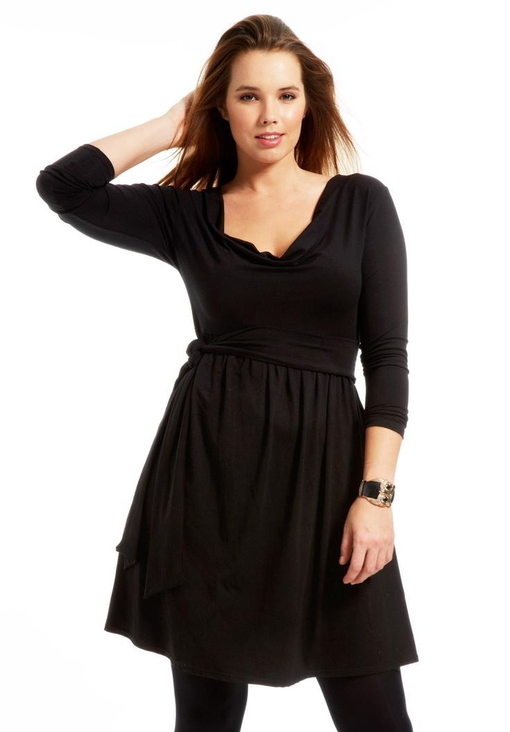 Robe grande taille Dulle noir, robe grande taille - Scarlett