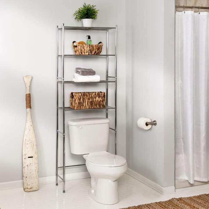 Cabinet With Glass Shelves Id 7751846660 Glassshelvesunit Toilet Storage Bathroom Space Saver Bathroom Storage Bathroom space saver decorating ideas