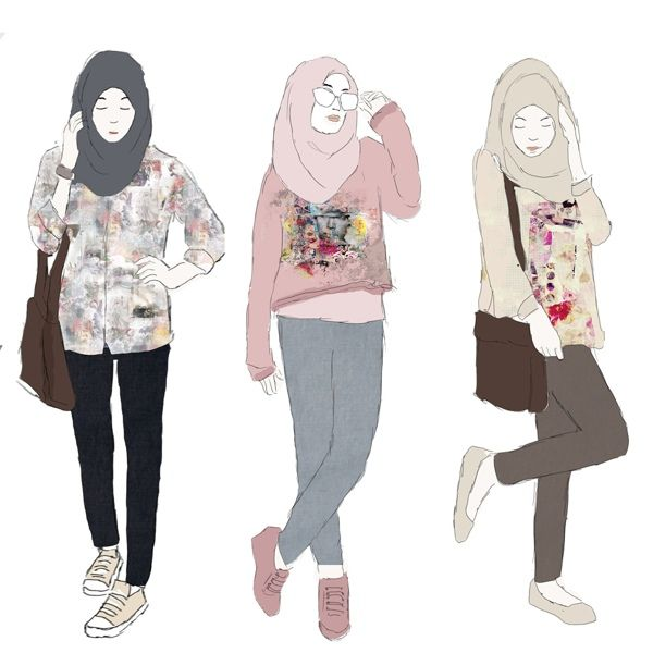 17 Best Images About Illustration Hijab On Pinterest Theater Ootd And Paint Tool Sai