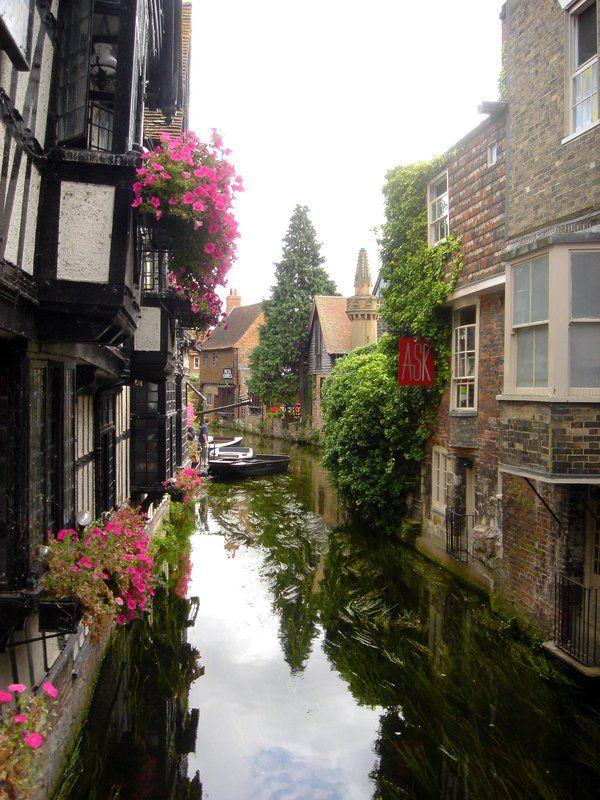 The river Stour at Canterbury, Kent, England.