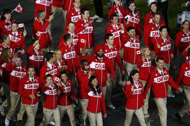 Members of Canada's contingent…