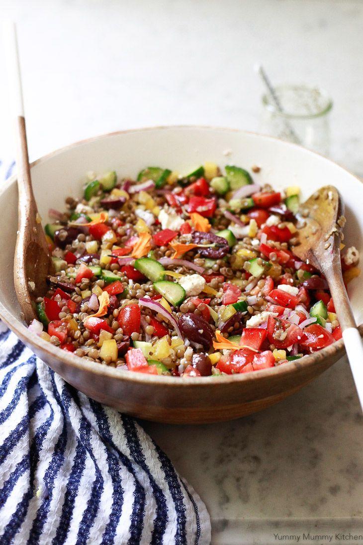 Mediterranean Greek Lentil Salad Vegan Recipe Lentil Salad Lentil Salad Vegan Vegetarian Recipes