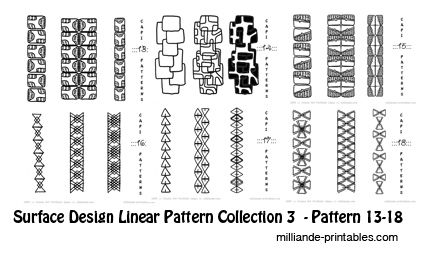 CAPI ::: Printable Linear Patterns for Surface Design
