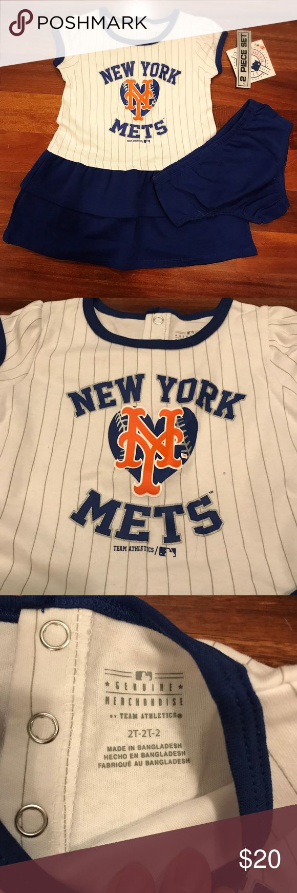 NWT Mets two piece outfit 2T Cute two piece outfit for toddlers. Size 2T. New with tags. Genuine MLB Merchandise. Genuine MLB Merchandise Matching Sets