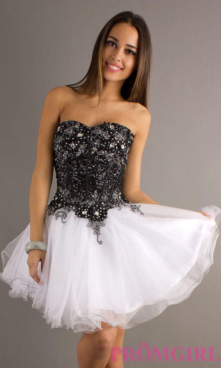 Black and white grad dresses