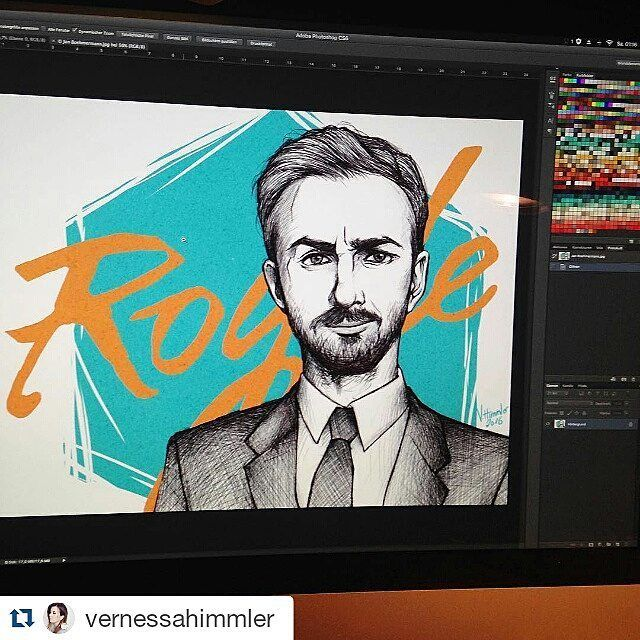 #Repost @vernessahimmler with @repostapp  Midnight illustration #photoshopphilipp #böhmi #janböhmermann #neomagazinroyale #zdfneo #photoshop  #illustrator #illustration #artist #art #artwork #portrait #graphic #graphics #siehsmalneo #witzefrei #drawing by jan_boehmermann