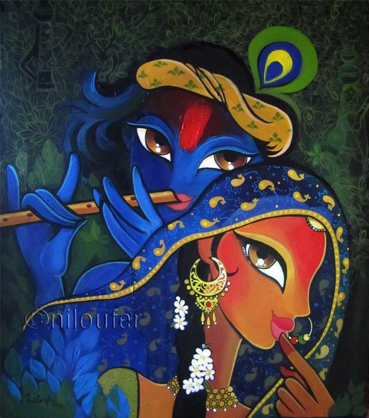 Niloufer Wadia Radha Krishna Indian Art