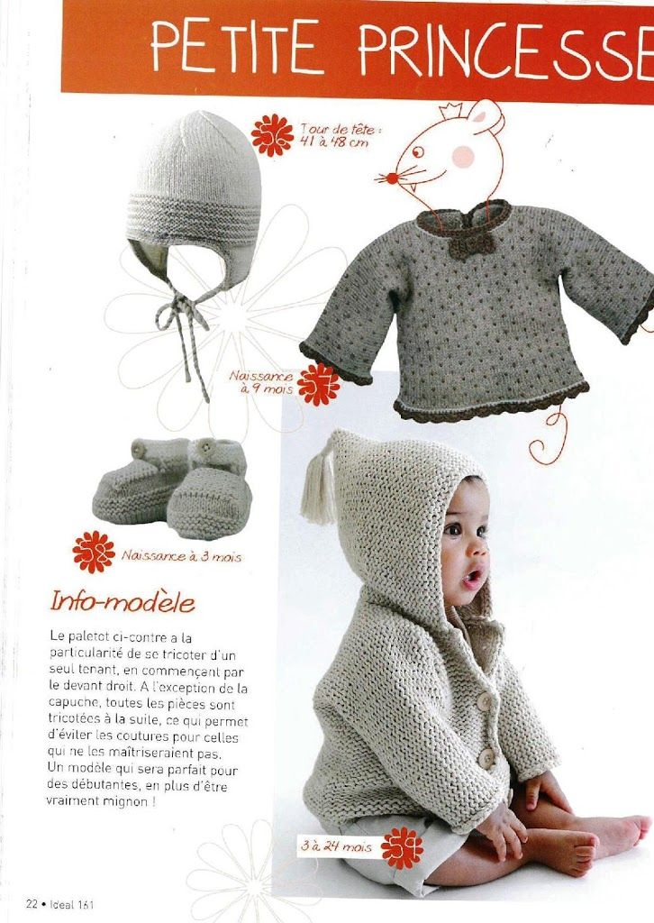 76 best Tricô para bebe images on Pinterest   Baby knits, Baby ...