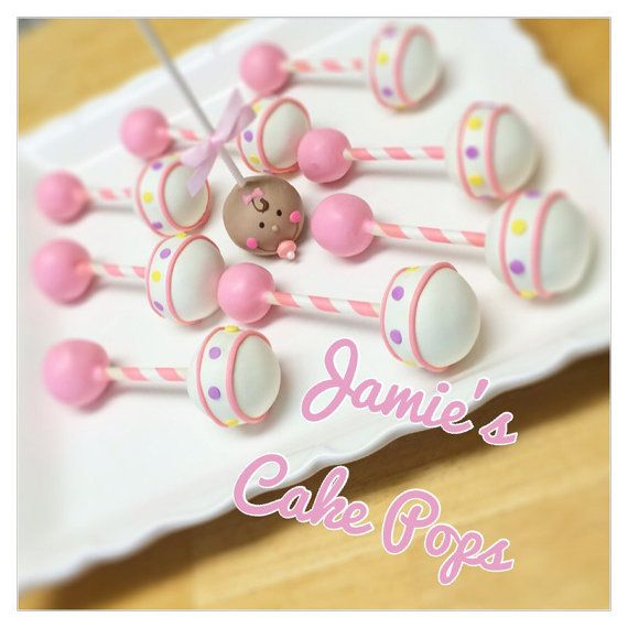 Cake Pop Designs For Baby Shower : Baby Rattle / Baby shower Cake Pops by JamiesCakePops on ...
