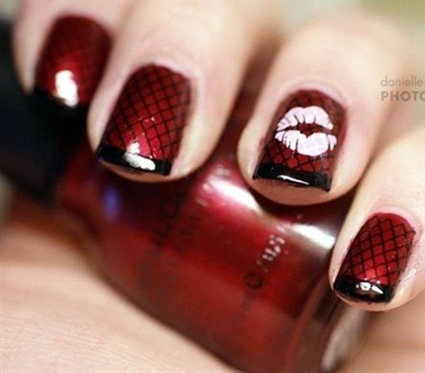 45 Cute Valentine Nail Art Designs to spread Love - Page 2 of 3 - Latest - Best 25+ Valentine Nail Art Ideas On Pinterest Valentine Nail