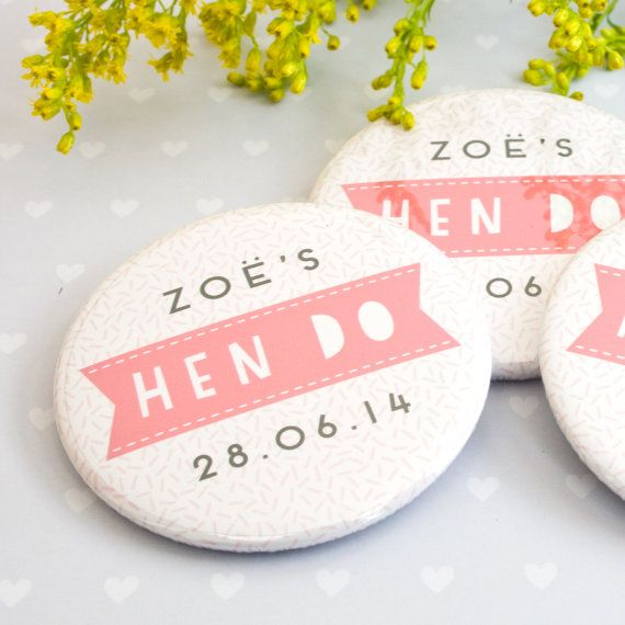 Personalised Hen Do Bachelorette Party Badges: Sprinkles Design