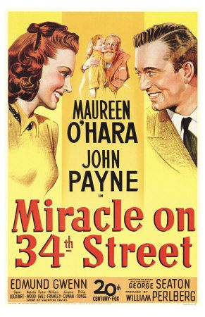 Day 1 - Watch Miracle on 34th Street.  I love to start the Christmas season with this film.  We've just watched the Macy's Thanksgiving Day Parade, so it's fun to see the old parade floats, and it reinforces the wonder of Christmas - especially important to me this year, as I suspect this might be A's last year believing in Santa. :(