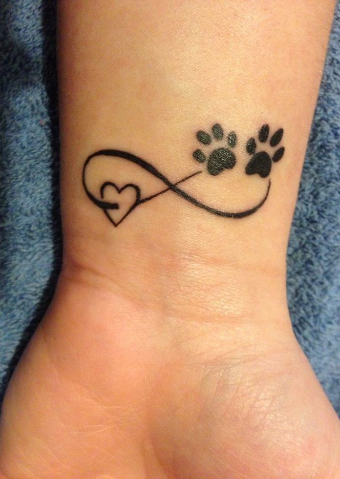 Stunning Paw And Heart Shape Tattoo Tattoo Design March 2016
