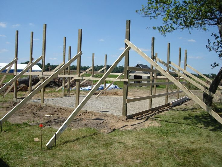 24 x 30 pole barn garage construction - materials by Menards