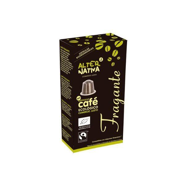 CAPSULAS Café FRAGANTE (Compatibles Nesspreso) Comercio Justo- 10 unidades