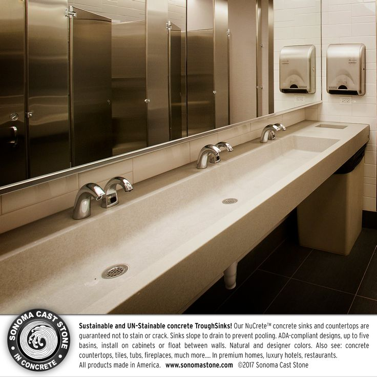 Concrete Sinks For The Restaurant And Public Restrooms By Sonoma Cast Stone